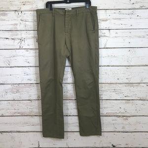 obey propoganda green slacks 36